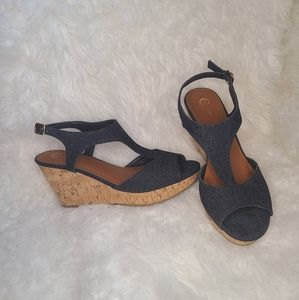 Platform denim shoes by C'est 1945   size 9